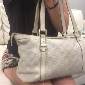 GUCCI Sima Leather Tote